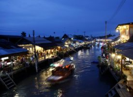 floating market excursie Amphawa
