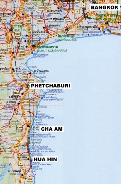lokatie Cha-am Huahin