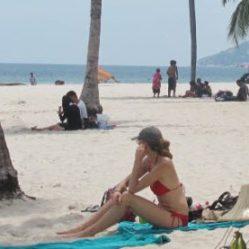 strand bij Hua hin stad