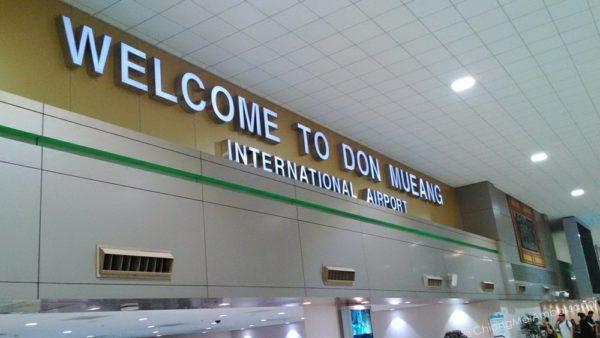 the Don Muang airport Bangkok