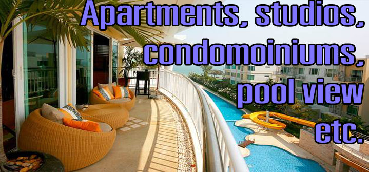 rent your holiday studio or apartments monthly in Hua hin