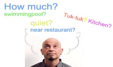 waar moet ik aan denken bij vakantiewoningen Thailand