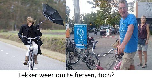 lekker fiets weer