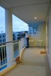 uitzicht van het balkon op Huahin strand