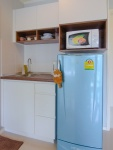 keukenblok met magnetron waterkoker en koelkast