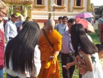 Monk going